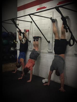 Team Kelmer wall climbs